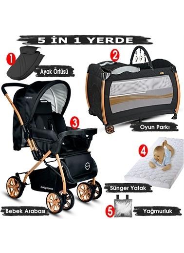 Baby Home Baby Home Bebek Arabası Ve Nanny Bebek Oyun Parkı Yatak Set Renkli